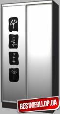 Шкаф-купе стандарт 7 (Пескоструй) гл 600мм